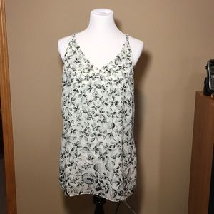 Cabi Black and white sleeveless top size large
